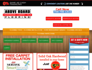 newsite.aboveboardflooring.com screenshot