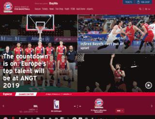 newsletter-service.fcb-basketball.de screenshot