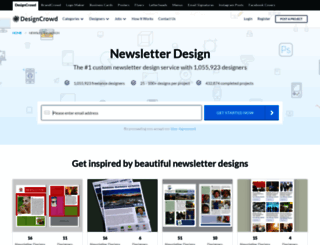 newsletter.designcrowd.co.in screenshot