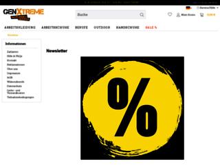 newsletter.genxtreme.de screenshot