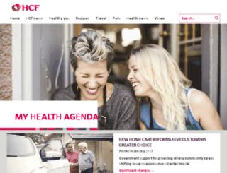newsletter.hcf.com.au screenshot