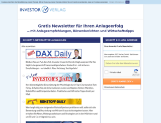 newsletter.investor-verlag.de screenshot