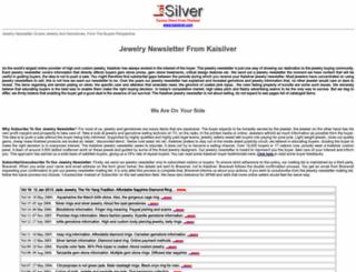 newsletter.kaijewels.com screenshot