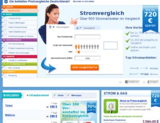newsletter.preisvergleich.de screenshot