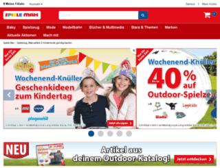 newsletter.spielemax.de screenshot