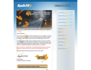 newsletters.kwik-fit.com screenshot