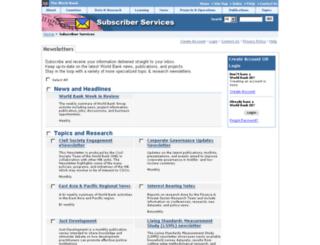 newsletters.worldbank.org screenshot