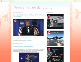 newsnotiziedelgiorno.blogspot.com screenshot