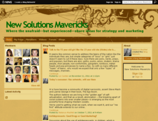 newsolutions.ning.com screenshot