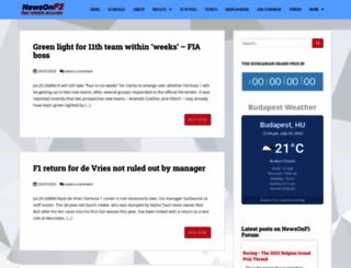 newsonf1.com screenshot