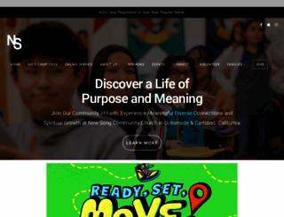 newsongchurch.com screenshot