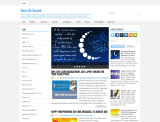 newsonsecond.blogspot.in screenshot