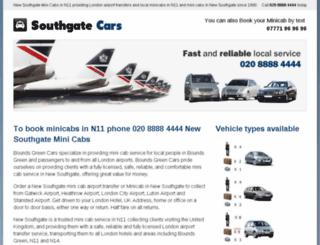 newsouthgatecars.co.uk screenshot