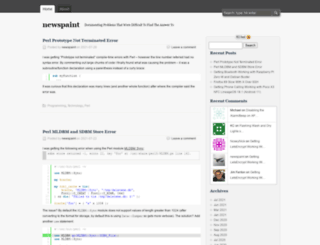 newspaint.wordpress.com screenshot