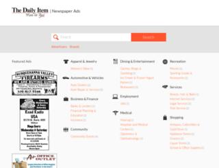 newspaperads.dailyitem.com screenshot