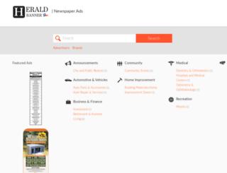 newspaperads.heraldbanner.com screenshot