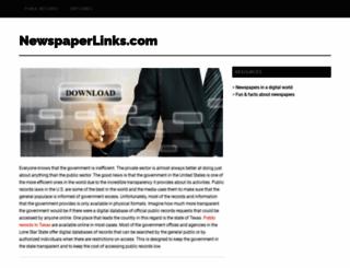 newspaperlinks.com screenshot