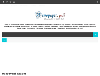 newspaperpdf.com screenshot
