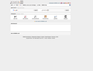 newspapers.klikklik.co.uk screenshot