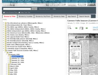 newspapers.mnhs.org screenshot