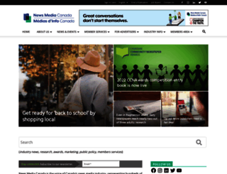 newspaperscanada.ca screenshot