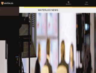 newsrelease.uwaterloo.ca screenshot