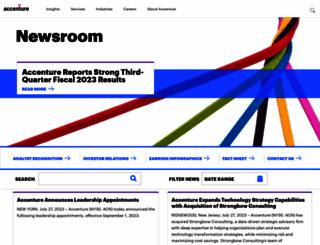 newsroom.accenture.com screenshot