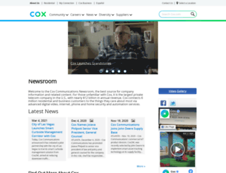 newsroom.cox.com screenshot