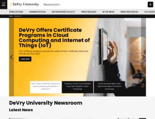 newsroom.devry.edu screenshot