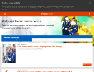 newsroom.edfenergy.com screenshot