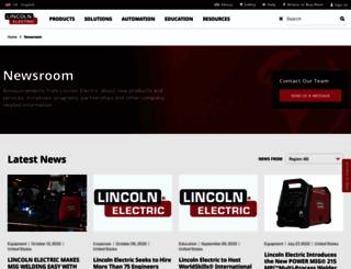 newsroom.lincolnelectric.com screenshot