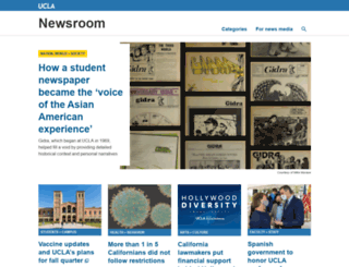 newsroom.ucla.edu screenshot