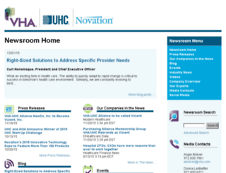 newsroom.vha.com screenshot