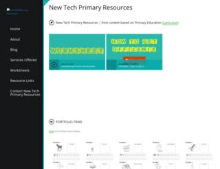 newtechprimaryresources.com screenshot