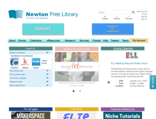 newtonfreelibrary.net screenshot