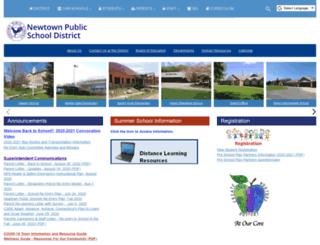 newtown.schooldesk.net screenshot