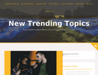 newtrendingtopics.com screenshot