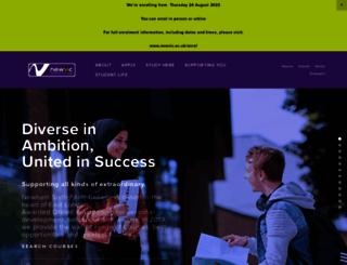 newvic.ac.uk screenshot
