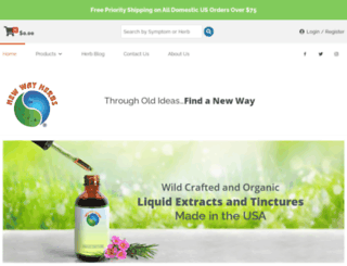 newwayherbs.com screenshot