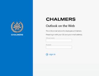 newwebmail.chalmers.se screenshot