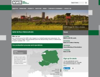 newworldresources.eu screenshot