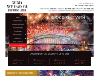 newyearsevesydney.net.au screenshot