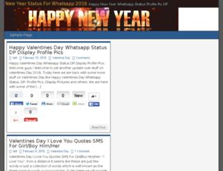 newyearsstatus.com screenshot