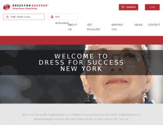 newyork.dressforsuccess.org screenshot