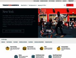 newyork.teachforamerica.org screenshot