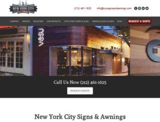 newyorkcitysigns.com screenshot