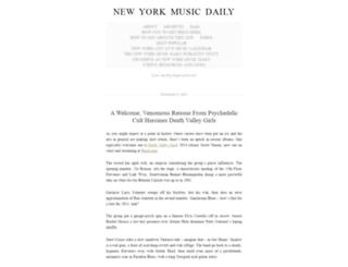 newyorkmusicdaily.wordpress.com screenshot