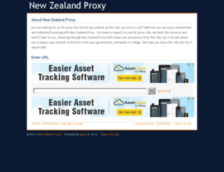 newzealandproxy.com screenshot