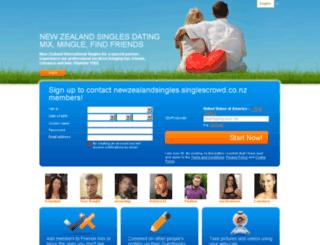 newzealandsingles.singlescrowd.co.nz screenshot