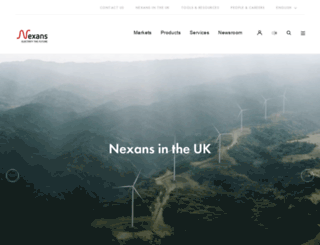 nexans.co.uk screenshot
